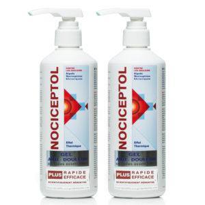 deux Flacons pompes gel anti-douleur