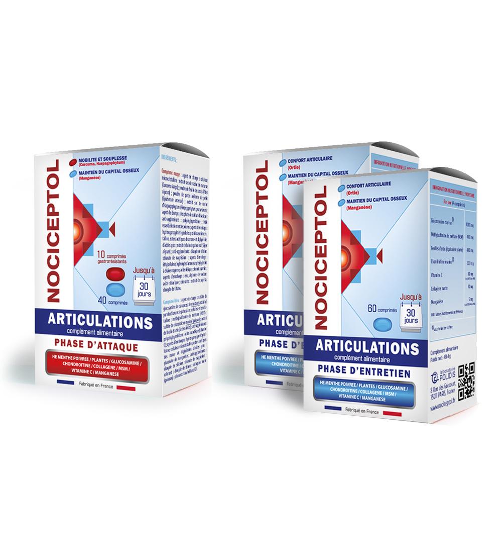 boites de Nociceptol phase d'attaque et phase d'entretien